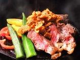最強肉コース!!3700円 2時間飲み放題╋鶏、豚、牛の肉料理7品╋デザート
