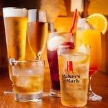 飲み放題は生ビール/ワイン/カクテルなど約60品以上