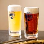 オリジナル地ビール「富士地ビール」は、お肉に良く合います