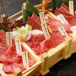 和牛8点盛り合わせはさまざまな部位を味わえる逸品