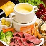 肉とチーズづくしのプラン!!チーズフォンデュ、チーズタッカルビ