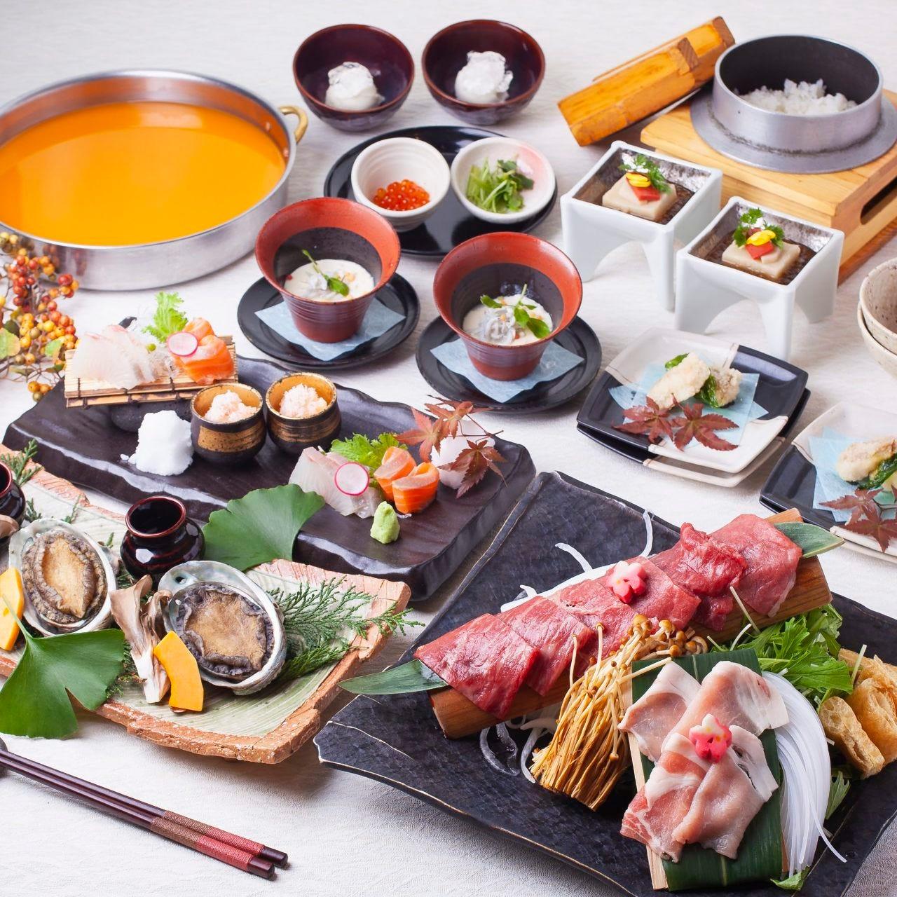 宴会コースや懐石コース等3500円~幅広くご用意しております。