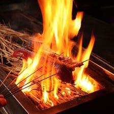 藁焼き -WARA YAKI- 本日の藁焼き
