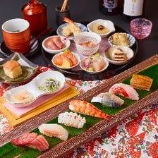 ~ランチ限定/贅沢ランチコース~鮨マイスターが握る江戸前鮨・肉逸品・天婦羅まで楽しめる
