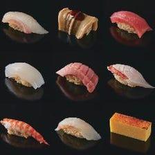 個室で本格的な江戸前鮨が楽しめる