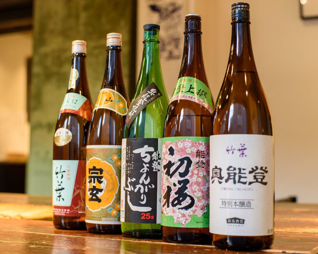 ◆能登の地酒各種が楽しめる