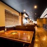 【最大120席・個室有】テーブル席/掘りごたつ席/カウンター席/テラス席も完備!!