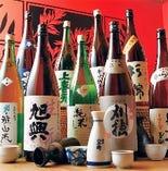 選りすぐりの日本酒もご用意。
