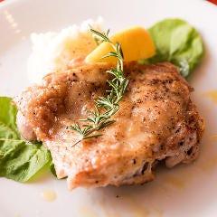 鶏もも肉のオーブン焼 マッシュポテト添え
