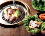 焼肉をヘルシーに食べられるよう 「サンチュ」無料サービス!!