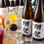 日本各地より厳選した日本酒飲み放題が自慢!
