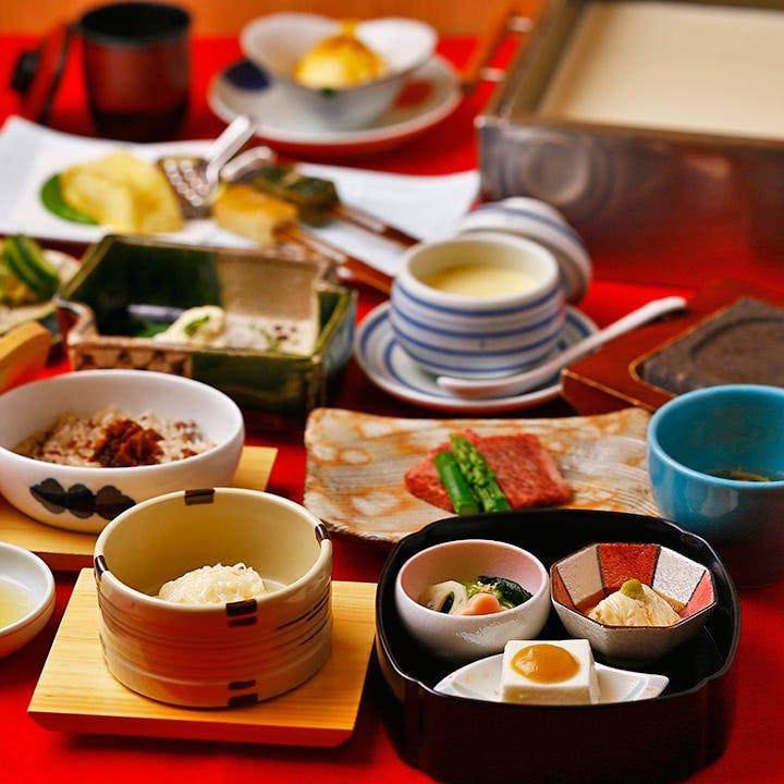 【梅の花「極」/全15品】熊本阿蘇あか牛と魚の西京焼きが選べる懐石
