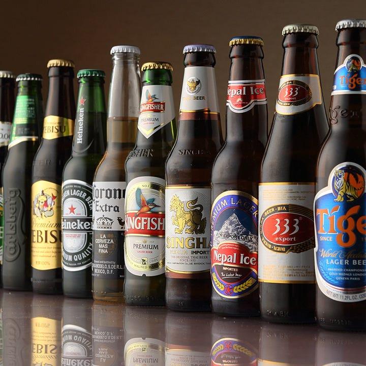 インドを始めアジアを中心に世界各国様々な味のビールを取り揃え