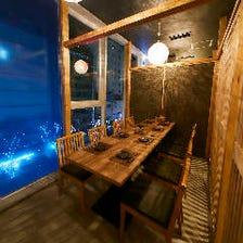 大人の雰囲気漂う個室を多数完備