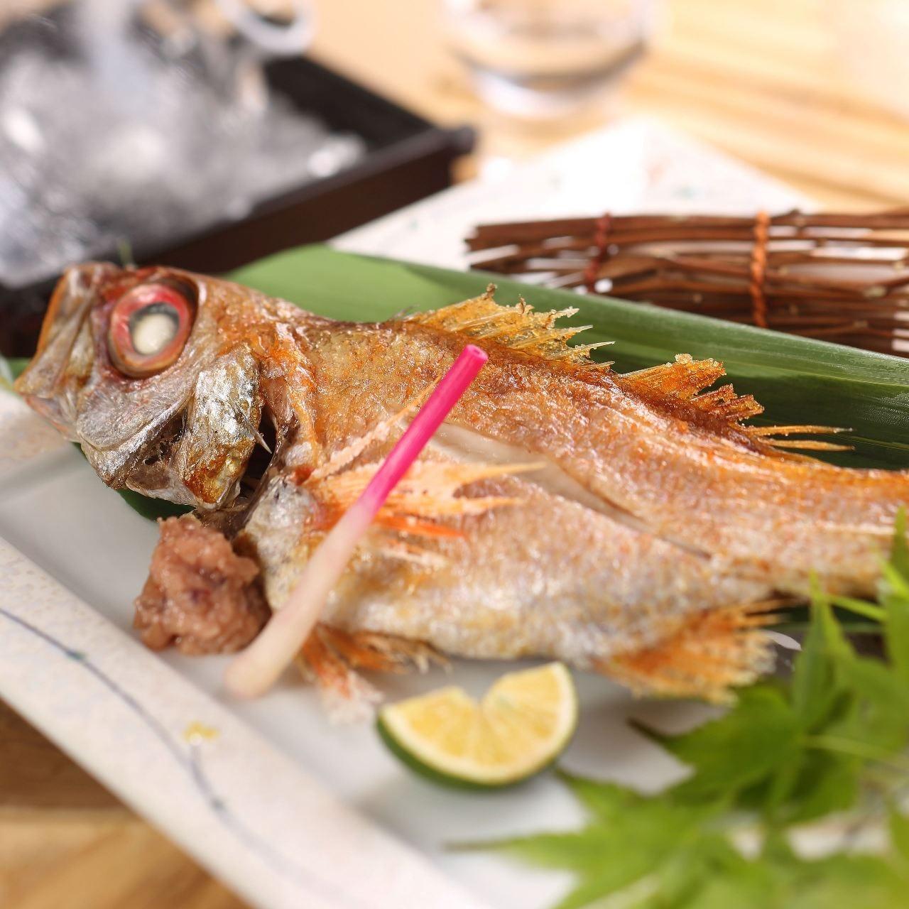 【山陰の味覚 ~隠岐の島・境港直送~】のどぐろ含む山陰の鮮魚を味わえる6品『旬鮮コース』4,500円