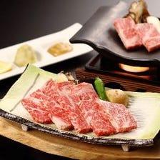 【遠赤外線で美味しく焼ける】鳥取県産黒毛和牛の瓦焼き