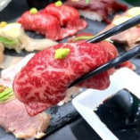 高級ブランド地鶏の肉寿司を含むコースは5000円~◎