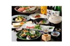 旬の魚、野菜を使用した会席料理