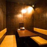 【接待】落ち着いた雰囲気のBOX席をご用意。ご予約はお早めに