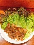 豚バラのエビ魚醤焼