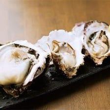 牡蠣の食べ比べ