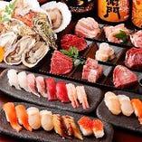 和牛・新鮮な海鮮・お寿司など北海道の美味しい食材を堪能。