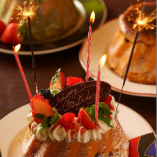 お誕生日等、各種お祝いにケーキご用意できます。