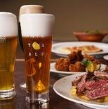 ビールに合うハラミステーキコース