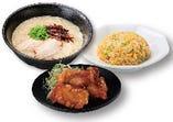 一麺定食(唐揚)