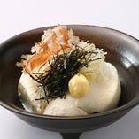 【豆腐料理】 その日の作り立てを味わえる、自家製のこだわり豆腐。