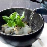 [食 事]  天草産 真鯛だし茶漬け 香の物