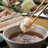 【夏季限定】鱧のつゆしゃぶもぜひご賞味ください。