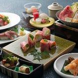 近江牛をふんだんにご堪能いただける会席料理。