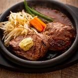 肉のみお替りをご注文のお客様はハンバーグ(150g)も追加可能
