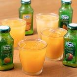 オレンジ・ピーチ・洋梨の「濃厚フルーツジュース」