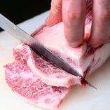 黒毛和牛や国産牛などその時期一番良いものを厳選仕入れ。