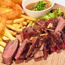 US産牛サーロインのステーキ
