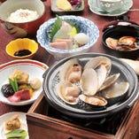 焼き蛤の付いた料理が色々ございます。