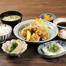 米福 鶏天ぷら定食