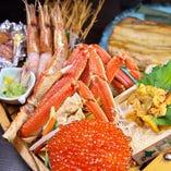 北海道から直送の食材