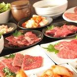 ご宴会コースでは、特撰和牛がお得に食べられます。