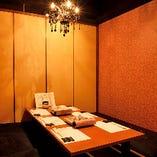 掘りごたつ個室(6名様×2部屋)|プライベート感のある和モダンな個室でおもてなし