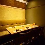 【テーブル完全個室】6・8・10・12名様と、ご利用人数に応じてご用意いたします。