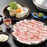 【ランチ】黒豚しゃぶ膳2200円(税抜)デザート付♪