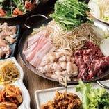 鉄板肉鍋が楽しめる絶品宴会コース!