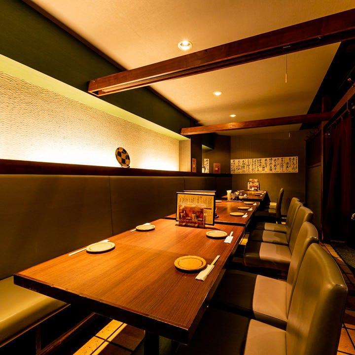 宴会・会食に喜ばれる多彩な大小個室