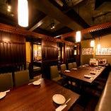 宴会や会食、接待など幅広いニーズに対応できる個室を多数ご用意