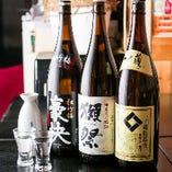 焼酎や日本酒など日本のお酒も豊富