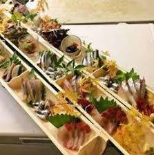 ●長崎の地魚てんこ盛りの刺身