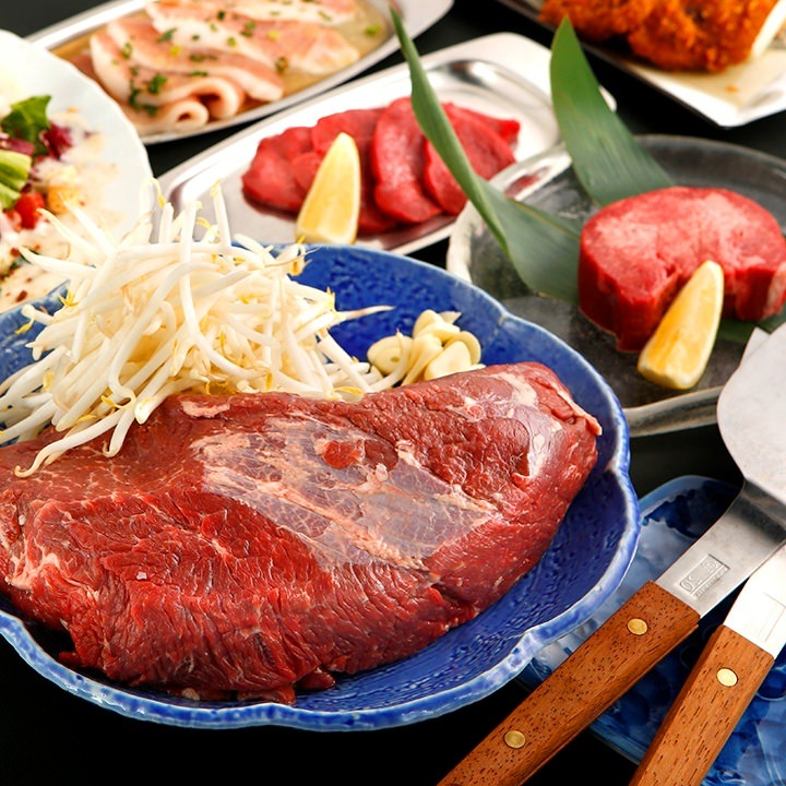 【1時間飲み放題付】選べるお好み&もんじゃ焼き!お料理10品 満足肉プラン